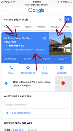 Local SEO - Mobile Location Listing View