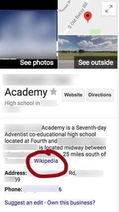 Wikipedia as a source for directory listing Picture